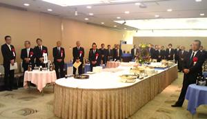 祝賀会会場(愛知県知事代理他60余名の参加にて盛大に開催されました)