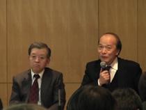 左:工業会技術委員委員長 伊藤博康氏 右:京都大学教授 成生達彦氏