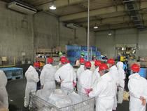 液状飼料工場では工場内部まで視察