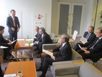工業会平野専務理事の来賓挨拶/基金協会3県の理事長と6県の専務・常務理事が出席