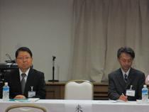 ご来賓は千葉県 市原祐二 班長と(右)工業会 平野昭 専務理事(左)