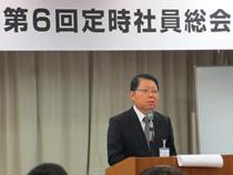 来賓の工業会平野昭専務理事は工業会が発信した飼料用米利用へのメッセージを紹介