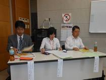 講師3人。左から大元講師、藤井講師、平野講師
