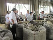 発酵混合飼料工場を視察