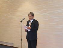 交換会の開会は、伊藤富治全日畜理事の 挨拶で