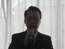 議案説明の金子幸治事務局長